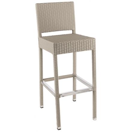 Chaise haute SARAH gris soie