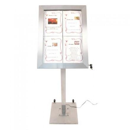 Présentoir porte menu restaurant lumineux securit