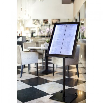 Porte menu LED 4xA4 Black Star
