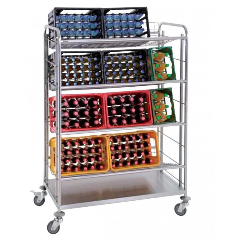 Chariot de transport de casiers à bouteilles