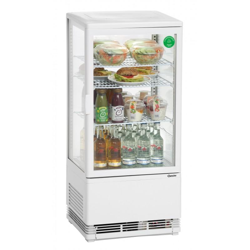 Mini vitrine réfrigérée blanche 78L