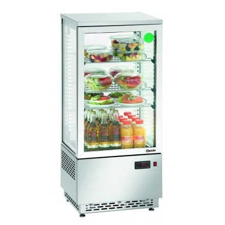 Mini vitrine réfrigérée inox 78L