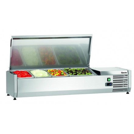 Saladette réfrigérée à poser 3xGN1/3 + 1xGN1/2