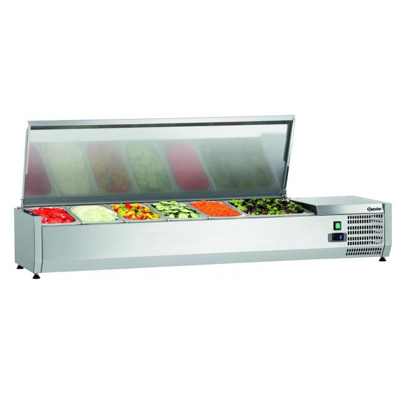 Saladette réfrigérée à poser 5xGN1/3 + 1xGN1/2