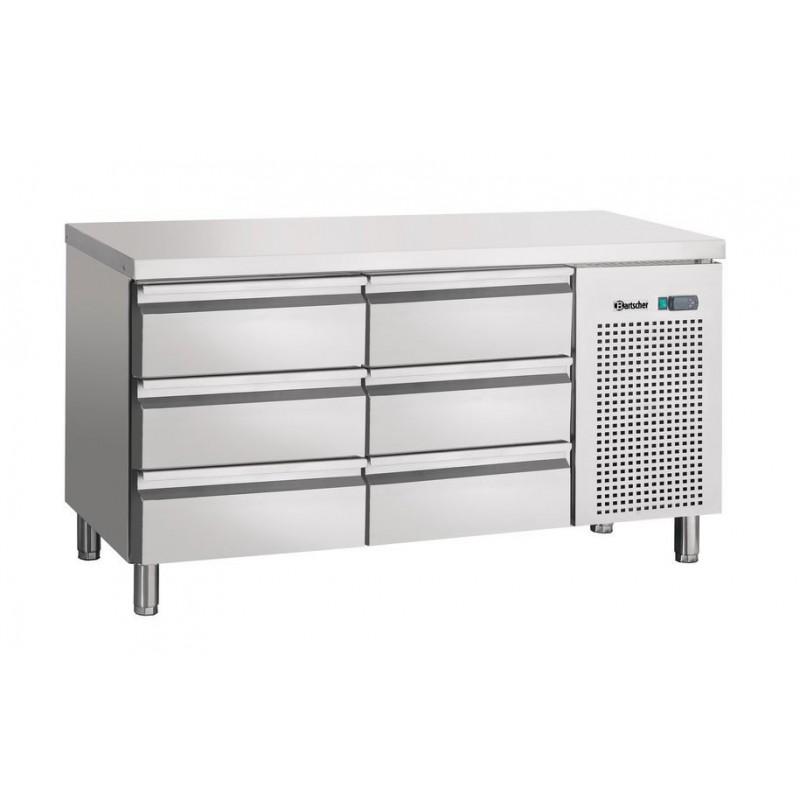 Table réfrigérée 6 tiroirs GN1/1