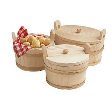 Seille à pommes de terre ronde avec couvercle