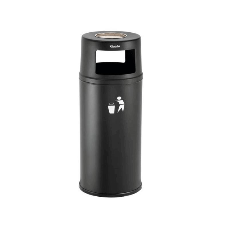 Combi cendrier/poubelle noir