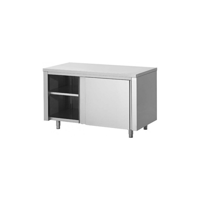 Meuble bas inox central P800mm