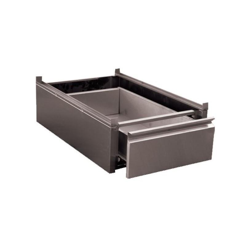 Bloc tiroir pour table de travail inox