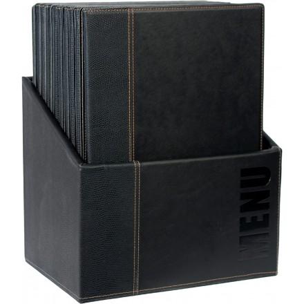 Box de 20 protège-menus A4 TRENDY - 5 coloris SECURIT Protège-menus A4