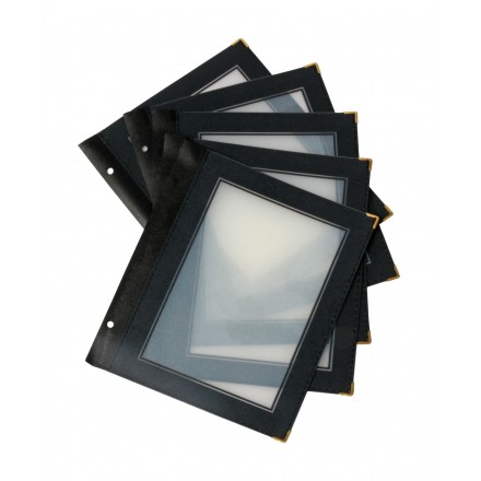Inserts plastiques A5 pour protège-menus bois