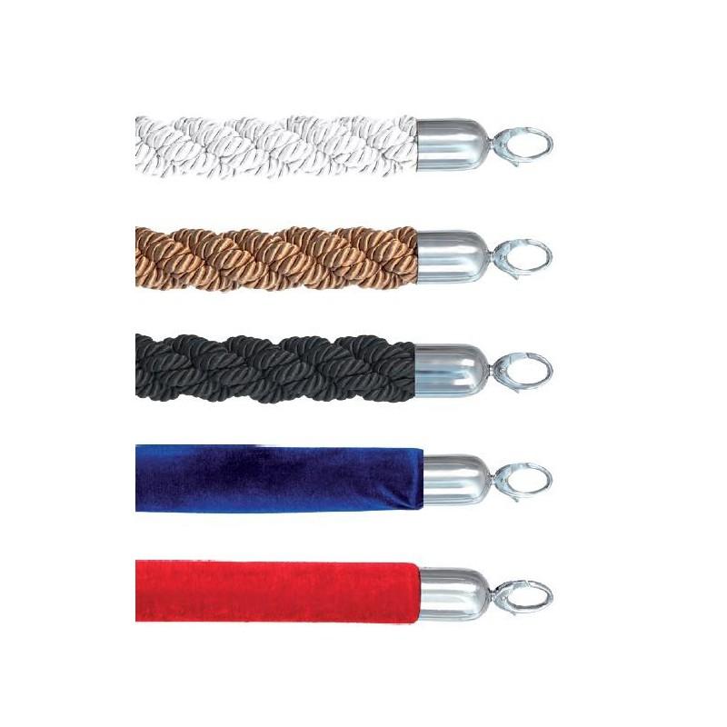 Corde embouts chromés - 5 coloris