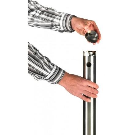 Cendrier colonne INOX SECURIT Cendriers