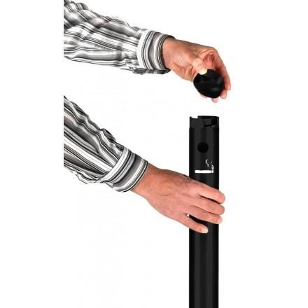 SECURIT Cendrier professionnel noir