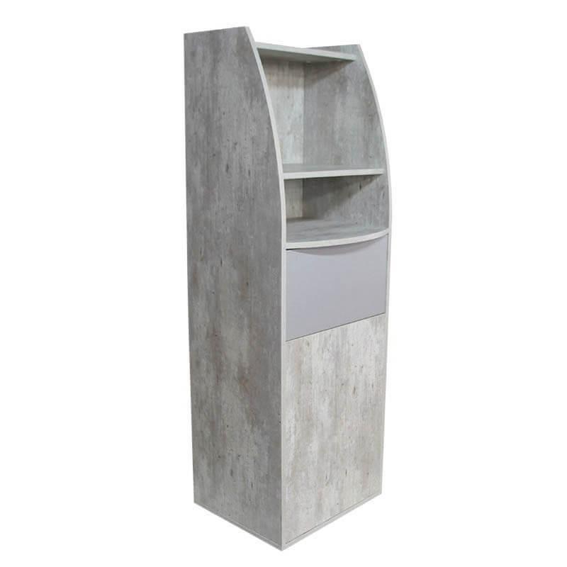 Meuble poubelle/micro-ondes béton naturel