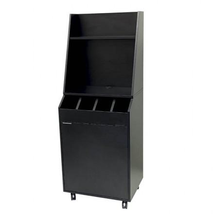Vaisselier de service noir pour restaurant