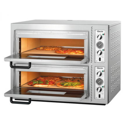 Four à pizza 2x4 pizzas ø30cm Bartscher NT622VS