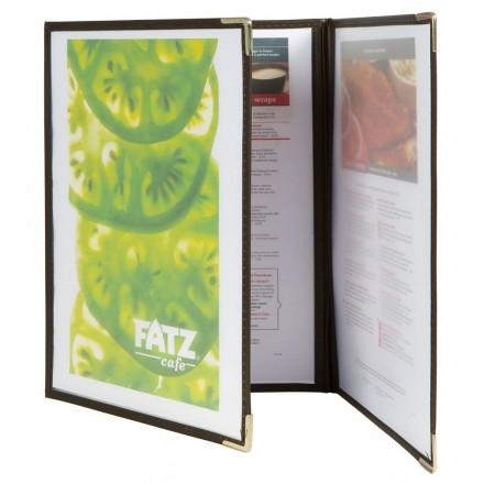 Protège-menu A4 Cristal triple face transparente