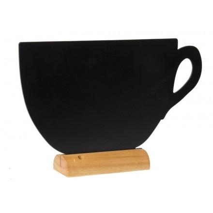 """Ardoise de table """"CUP"""" avec socle en bois SECURIT"""