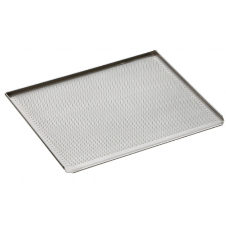 Plaque de four pâtissière perforée en aluminium BARTSCHER 433x333m