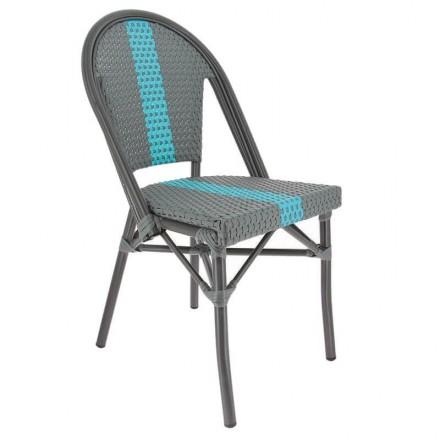 Chaise DIEPPE gris/bleu