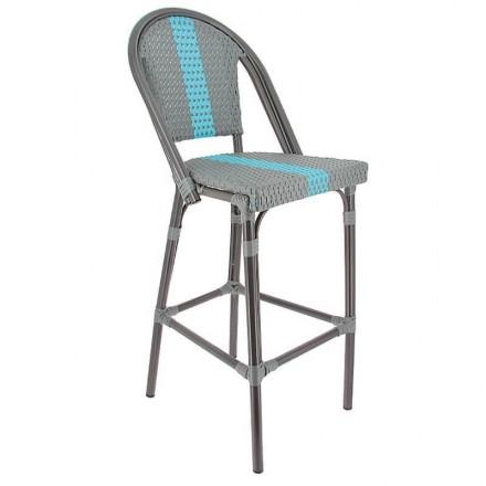 Chaise haute DIEPPE gris/bleu