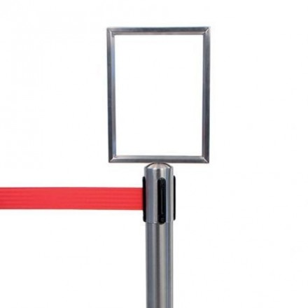 Porte-affiche pour poteau d'accueil à corde rétractable SECURIT