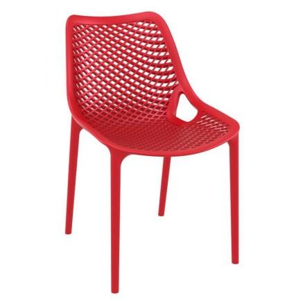 Chaise MONACO rouge