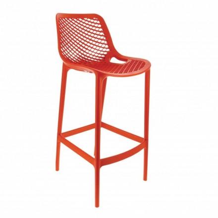 Chaise haute MONACO rouge