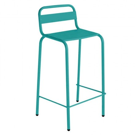 Chaise haute CASSIS turquoise