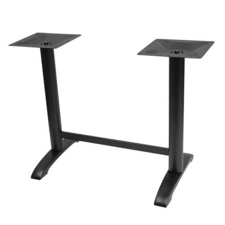 Piétement de table double RIO noir