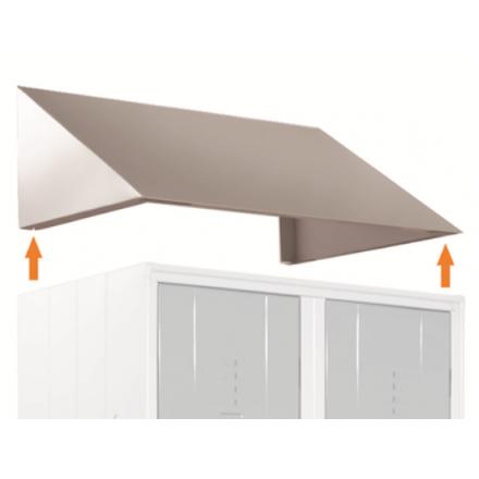 Toit incliné en acier pour vestiaires et armoires professionnelles