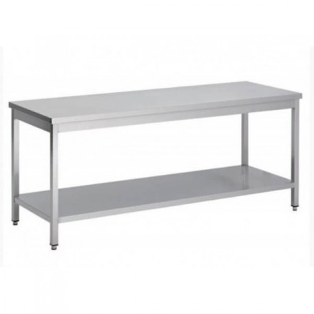 Table inox centrale P700mm AISI 304
