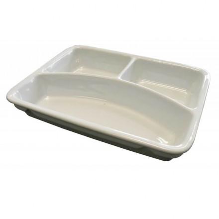Assiette rectangulaire en porcelaine