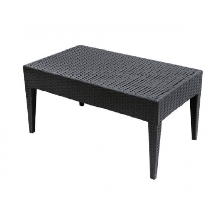 Table basse rectangulaire MIAMI en polypropylène tressé
