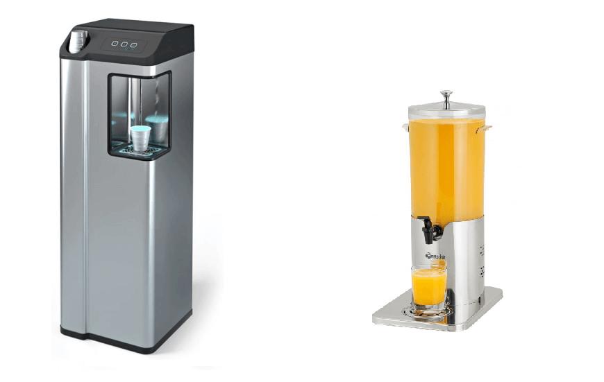 Fontaines et distributeurs de jus réfrigérés
